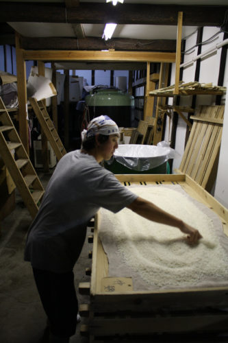 Sake production